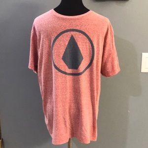 Men's Volcom logo red t-shirt sz L